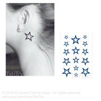 5 star - Temporary Tattoo T026