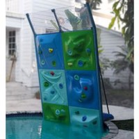 The Six Panel Aquatic Climbing Wall - Hammacher Schlemmer