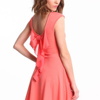 RUFFLE BOW SKATER DRESS