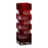 Cyan Design Small Ruby Etched Vase in Red