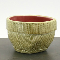 Cable-Knit Stoneware Soup Bowl - Oatmeal