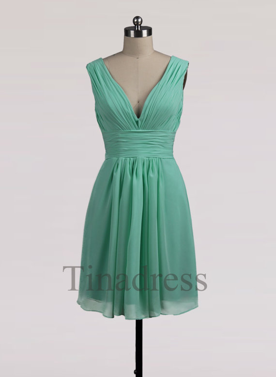 Mint Green Bridesmaid Dresses Cheap 87