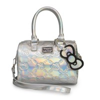 Hello Kitty Silver Mini Duffle Embossed Bag - Satchels - Bags