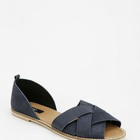 BDG Strappy Peep-Toe Flat - Urban Outfitters