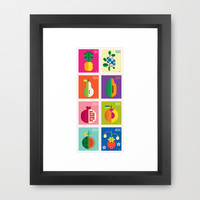 Fruit Framed Art Print by Christopher Dina