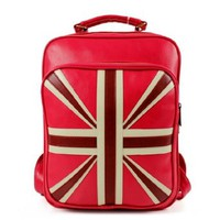 Unisex British Flag Union Jacks School Bag Backpack Handbag Tote