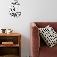 Sail Away Wall Decal - Urban Outfitters
