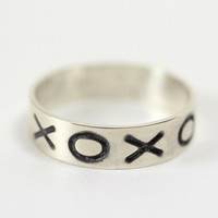 $40.00 XOXO Ring by BelliniJewelry on Etsy