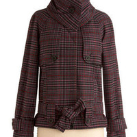 Purple Plaid Majesty Coat | Mod Retro Vintage Jackets | ModCloth.com