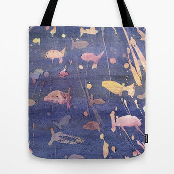 aquarium Tote Bag by rysunki-malunki
