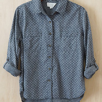 Spotted! Polka Dot Shirt, Dark Blue
