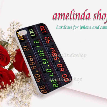Delorean time circuit board for iphone 4/4s case, iphone 5/5s case, iphone 5c case, samsung s3 i9300 case, samsung s4 i9500 case