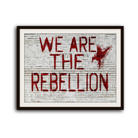 Hunger Games Catching Fire Graffiti Typography Poster Home Decor Mockingjay We are the Rebellion