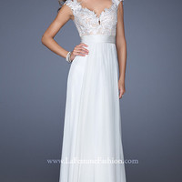 Floor Length Ivory Prom Dress by La Femme