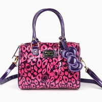 Hello Kitty Embossed Handbag: Bold Leopard