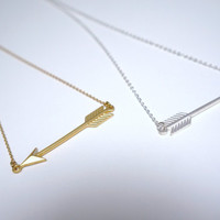 Arrow Necklace ... Cupids Arrow Necklace .....Gold OR Silver.... You Choose