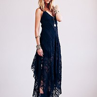 Free People Womens FP ONE Cast Away Gown - Black,