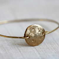 Full moon bangle bracelet
