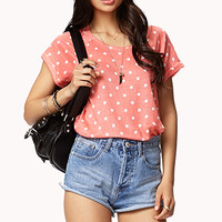 Linen Polka Dot Top