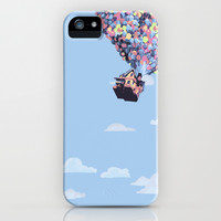 disney pixar up.. balloons and sky with house iPhone & iPod Case by studiomarshallarts