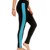 Jade Striped Workout Pants