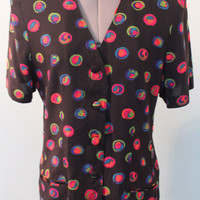 Multi Color SS Urban Outfitters Type Blazer Blouse