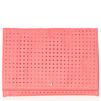 HEART PERFORATED CLUTCH
