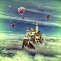 Laputa - Castle in the Sky Art Print by Paula Belle Flores