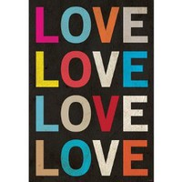 Love (Colorful) Art Poster Print - 13x19