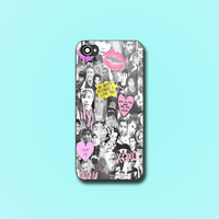 One Direction And 5SOS - Print on hard plastic - iPhone 4/4s - iPhone 5/5s - iPhone 5c - Samsung S3 i9300 - S4 i9500