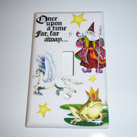 Whimsical Once Upon a Time single light switch cover