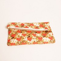 Mini Heart of Gold Zipper Clutch | Little Paper Planes