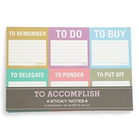 Knock Knock 'To Accomplish' Mini Sticky Notes (6-Pack) | Nordstrom