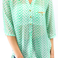 Be Mine Blouse - Mint