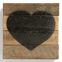 Second Nature by Hand Decorated Wood Slat Heart