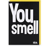 You Smell Nice Card at Urban Outfitters