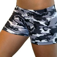 Camouflage Spandex Shorts Inseam in 3 Lengths