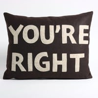 YOURE RIGHT 14x18inch recycled felt applique by alexandraferguson