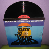 Rare Vinyl Record Day of the Dead Original Soundtrack LP 1985 Horror Halloween Romero Zombie Classic