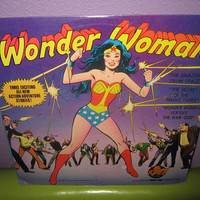 Vinyl Record Album Wonder Woman 3 Exciting Stories SEALED 1975 Children's Superheroes Classics