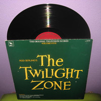 Rare Vinyl Record The Twilight Zone Television Scores Volume 5 LP 50s/1984 Sci Fi TV Classic