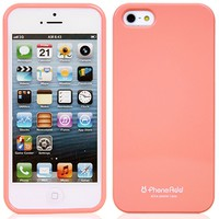 Phoneadd - Alice Pastel Soft Slim Fit Jelly Case for Iphone 5 5S (Pitch Pink)