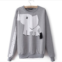 White Elephant Sweatshirts For Women