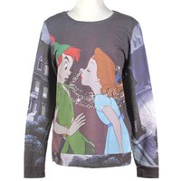 Disney Peter Pan Kiss Girls Pullover Top