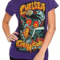 Chelsea Grin Pizza Guy Girls T-Shirt Plus Size 3XL