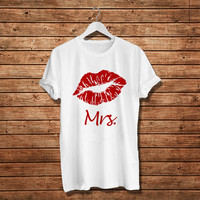 Mrs. Valentine Days for Girls T-Shirt, Valentine Days Gift Woman T-Shirt (Available Various Color)