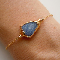 Druzy Bracelet in Brilliant Blue by 443Jewelry on Etsy