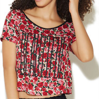 Beautiful Rose X-Back Top | Wet Seal