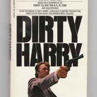 Dirty Harry starring Clint Eastwood, 1970s vintage paperback book movie tie in, 1971 VPRB011120