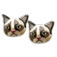 Grumpy Cat Burlesque Pasties Nipple Tassels
